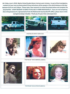 New Flyer in Kyron Horman Case Focuses on Stepmom and Her Friend