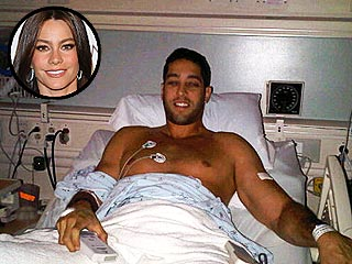 Sofia Vergara's TwitPic of Boyfriend in the Hospital