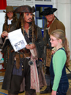 Johnny Depp Makes Girl's Dream Come True with School Visit