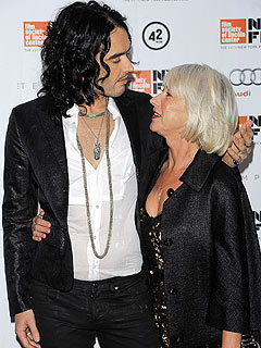 Russell Brand Gifts Helen Mirren His Undies