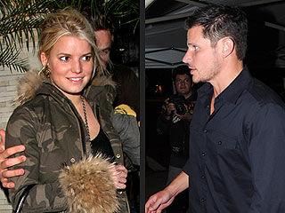 Jessica Simpson and Nick Lachey's Dinnertime Run-In