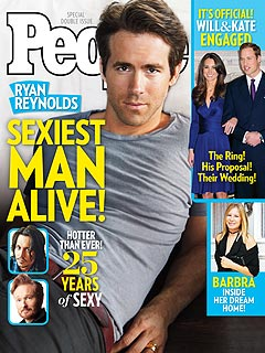 Sexiest Man Alive 2010 is Ryan Reynolds