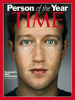 Facebook's Mark Zuckerberg Named Time's Person of the Year