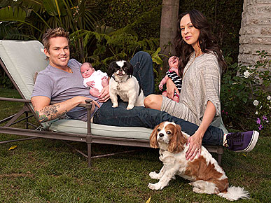 Mark McGrath's Dogs 'Protect' His Newborn Twins