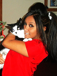 Spotted: Snooki Smushes Her Cat (with Her Cheek)