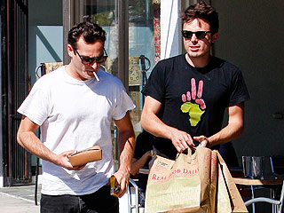 Joaquin Phoenix & Casey Affleck Catch Up in L.A.