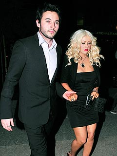 Christina Aguilera Shares a Quiet Dinner with Boyfriend Matt Rutler