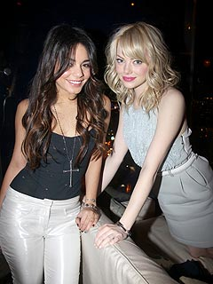 Vanessa Hudgens & Emma Stone Party in L.A.