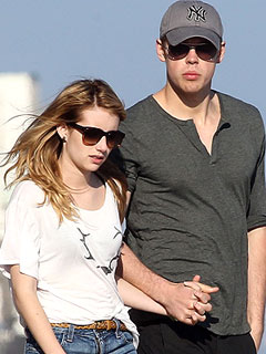 Chord Overstreet & Emma Roberts Cozy Up at Rooftop Bash in L.A.