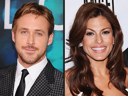Ryan Gosling & Eva Mendes Hang Out with His Friends
