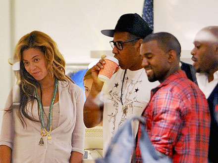 Beyonce, Kanye West, Jay-Z Hang in NYC