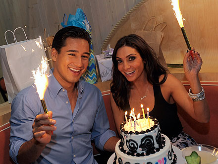 Mario Lopez & Courtney Mazza Celebrate Their Birthdays over Steak