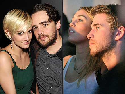 Double Date? Ashlee & Vincent Party with Liam & Miley in L.A.