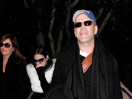 They're Back! Bruce Willis & Daughters Return from Paris