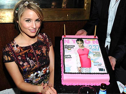 Dianna Agron Enjoys a Dinner Party in Her Honor