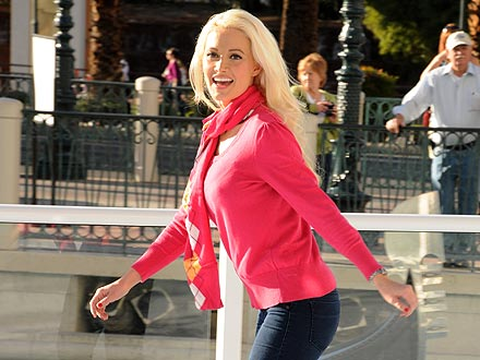 Holly Madison Flaunts Her Ice-Skating Skills