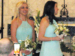 Britney Spears Walks Down the Aisle – for a Friend's Wedding!