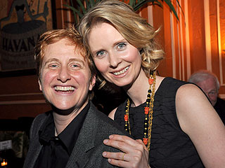 Cynthia Nixon with cool, Wife Christine Marinoni