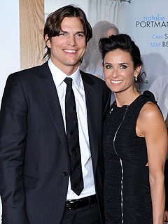 Ashton Kutcher, Demi Moore at Kabbalah Centre