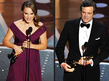 Oscars Winners: Natalie Portman, Colin Firth, King's Speech