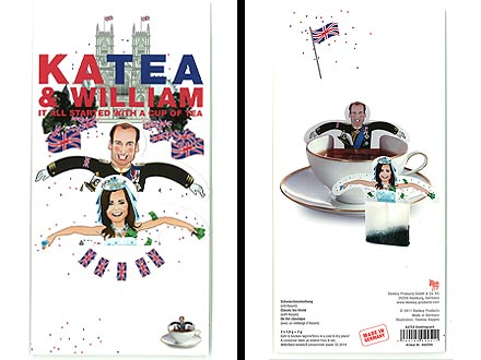 Kate Middleton, Prince William Tea Memorabilia