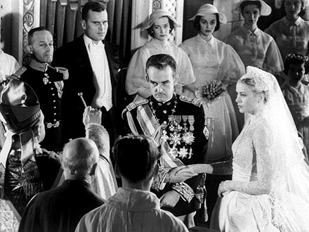 Grace Kelly and Prince Rainier Wedding Photos
