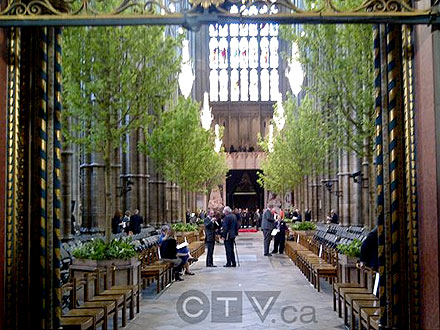 Westminster Abbey - Inside for Royal Wedding