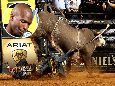 Chad Ochocinco Goes Bullriding with PBR, Professional Bull Riders