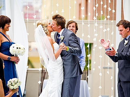 Meghan Rickey and Cheyne Whitney -- Wedding Kiss Photo