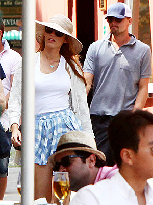 Leonardo DiCaprio and Blake Lively Hang Out in Italy
