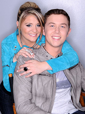Lauren Alaina and Scotty McCreery in American Idol Finale