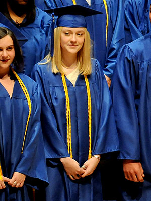 Dakota Fanning Graduates High School