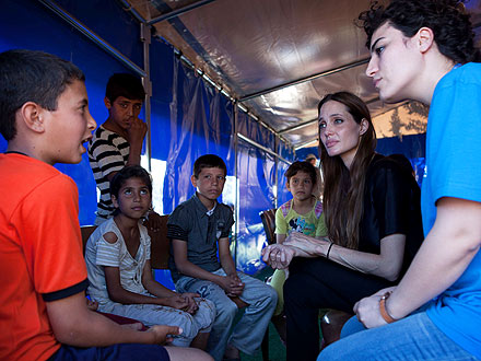 Angelina Jolie Visits Mediterranean Islands Beset by Refugee Crisis
