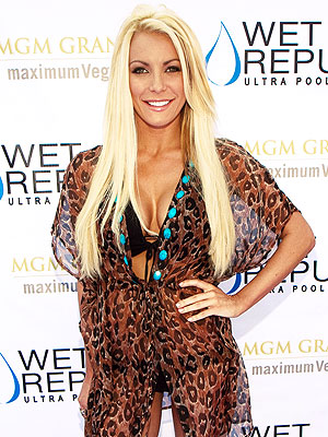 Crystal Harris: Pool Party on Day She Was to Marry Hugh Hefner