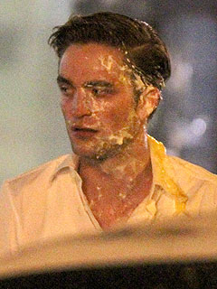 Robert Pattinson Pie Scene in Cosmopolis