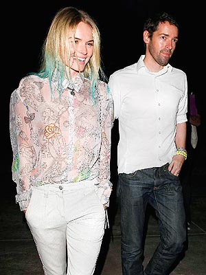 Kate Bosworth and New Man Kiss at Coldplay Concert