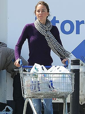Kate Middleton Shops for Groceries in Wales