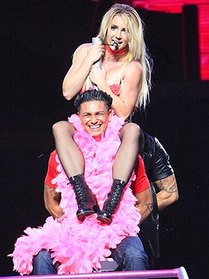 "Britney Spears Gives ""Jersey Shore"" star Paul ""Pauly D"" DelVecchio a Lap Dance"