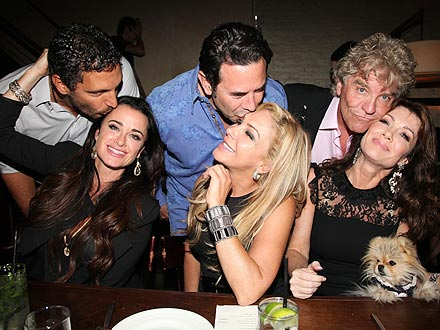 Real Housewives of Beverly Hills Lisa Vanderpump, Kyle Richards in NYC Pictures