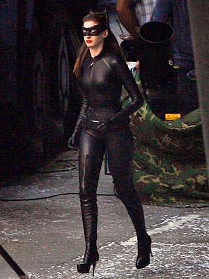 Anne Hathaway Steps Out in Her Catwoman Costume Anne Hathaway