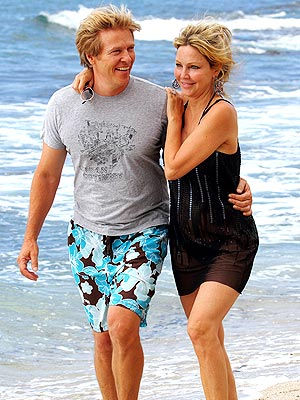 Heather Locklear Engaged to Jack Wagner; Celebrate 50th Birthday on Beach
