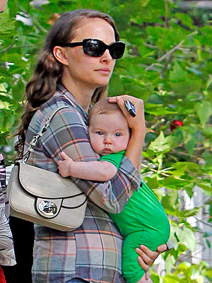 Natalie Portman's Son Aleph: Photographed in Hollywood