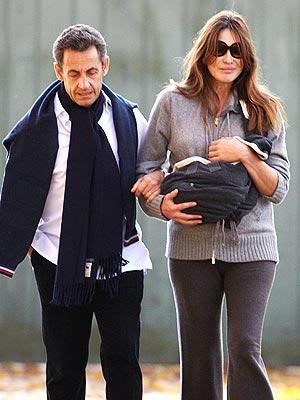 Carla Bruni-Sarkozy Baby Pictures