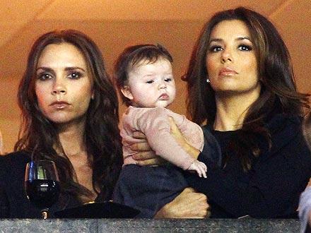 Victoria Beckham, Eva Longoria at David Beckham's Game