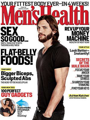 Demi Moore, Ashton Kutcher Split: He Talks Relationships in Men's Health