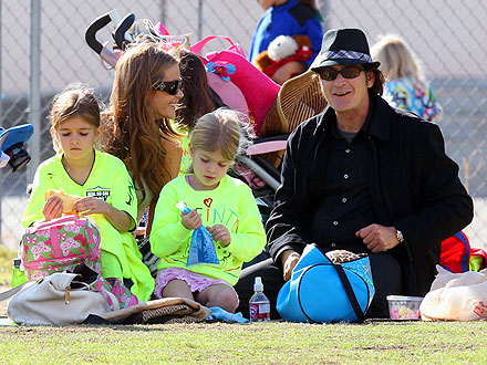 Charlie Sheen & Denise Richards Reunite for a Soccer Game