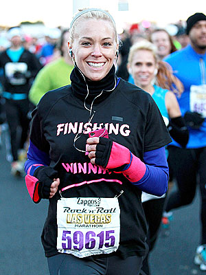 Kate Gosselin Runs Marathon in Las Vegas