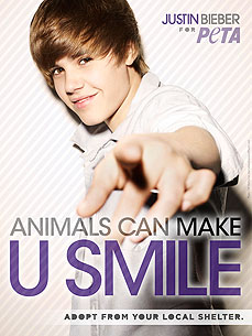 Justin Bieber, Animal Adoption Advocate!