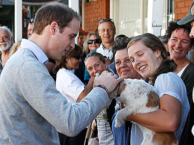 Spotted: Prince William Makes a Furry Friend!