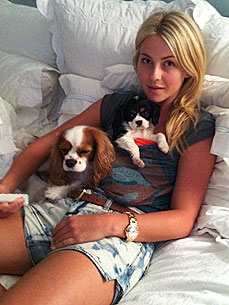 Julianne Hough Welcomes New Pup Harley